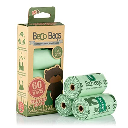 Amazon.com : Beco Bags - Travel Pack - 60 Strong Large Poop ...