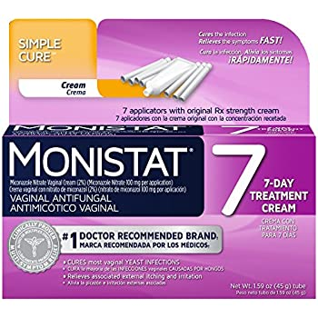Monistat 7-Day Vaginal Antifungal | Simple Therapy | 7 applicators and Original Rx Cream