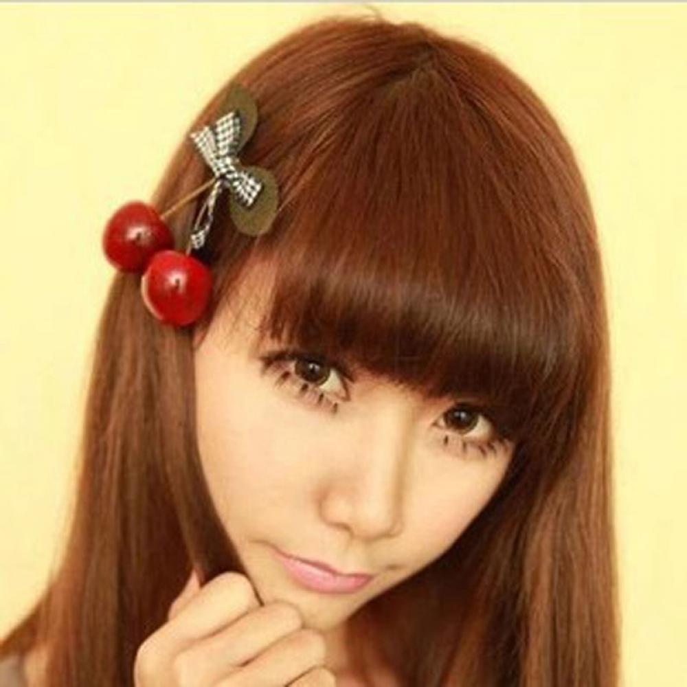 Xinnyuan Fashion Girls Cherry Barrette Hair Accessories Hairpin Clip