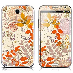 SX-079 Cartoon Animal Pattern Front and Back Protector Stickers for Samsung Note 2 N7100