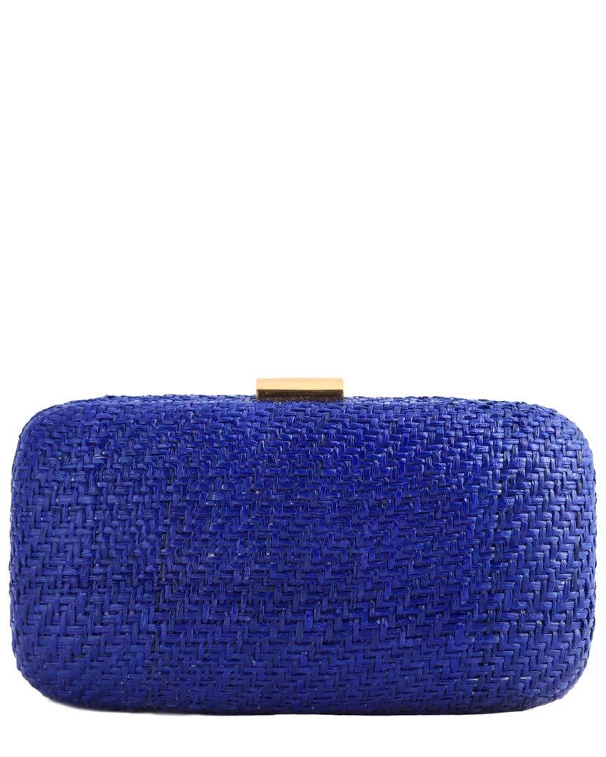 Kayu Women's Charlotte Straw Clutch, Blue, One Size