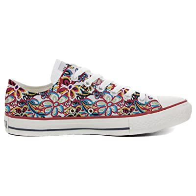 Converse All Star Slim Chaussures Coutume Mixte Adulte (Produit artisanalPersonnalisé) floreal Abstract