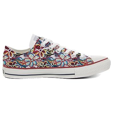 Converse All Star personalisierte Schuhe (Handwerk Produkt) Floreal Abstract