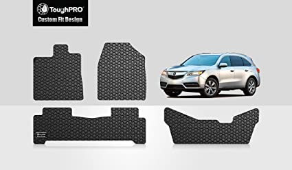 Amazoncom ToughPRO Acura MDX Floor Mats Rd Row Mat Set All - Acura mdx floor mats