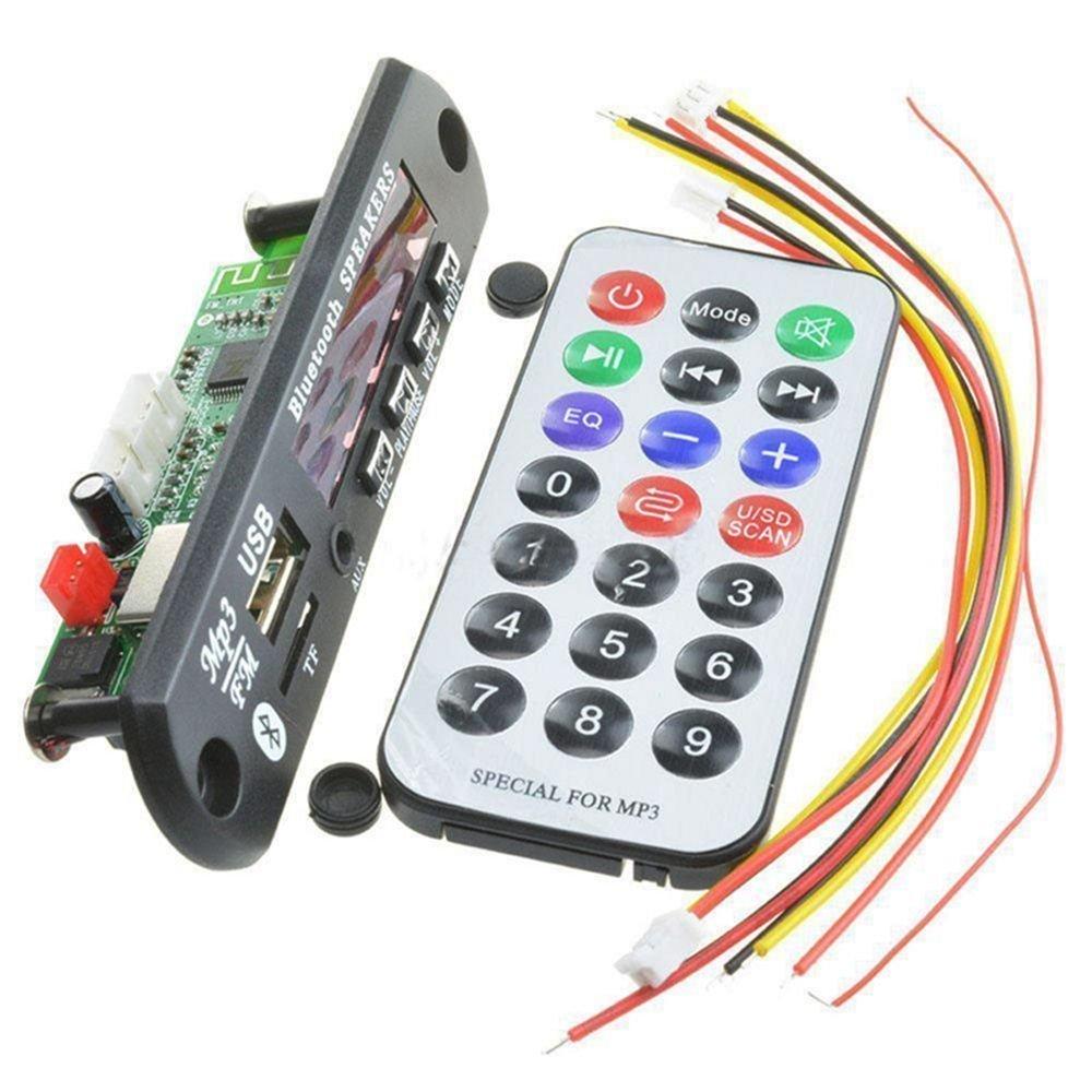 FidgetFidget Wireless Bluetooth Board Audio Module 12V MP3 WMA Decoder USBTF Radio for Car HQ
