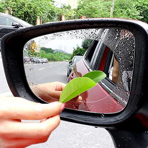INTVN 3 pairs Car Rearview Mirror Film Transparent, 3.94 * 5.91in Protector Car Rearview Mirror Side Window Waterproofing Anti Fog Anti Glare Membrane