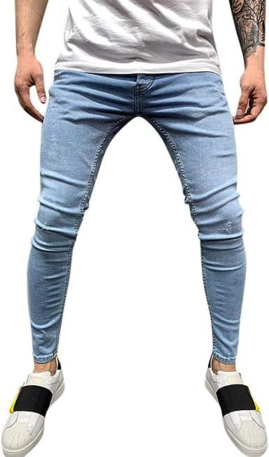 Zezkt Skinny Vaqueros Hombre Basicos Pitillo Mezclilla Pantalones Ajuste Flaco Jeans Slim Fit Pantalones Lapiz Otono E Invierno Nuevo Tejanos Casual Comodo Piratas Pantalon Amazon Es Ropa Y Accesorios