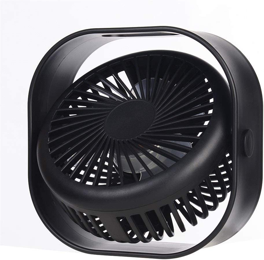 HAOXIONG-ZHANG Portable Miniskirt Desk Fan USB Charging Ultra Muted Rotation Air Cooler Table Fan Electric Fan Size : No Battery