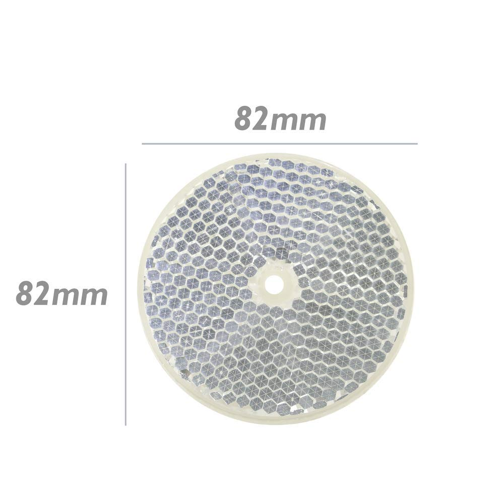Reflector mirror reflex for photoelectric photocell 77mm rounded BeMatik