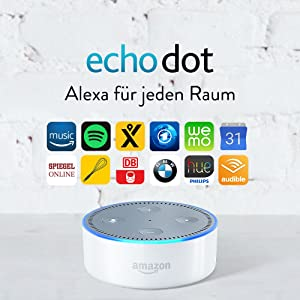 Amazon Echo Dot (2. Gen.) Intelligenter Lautsprecher mit