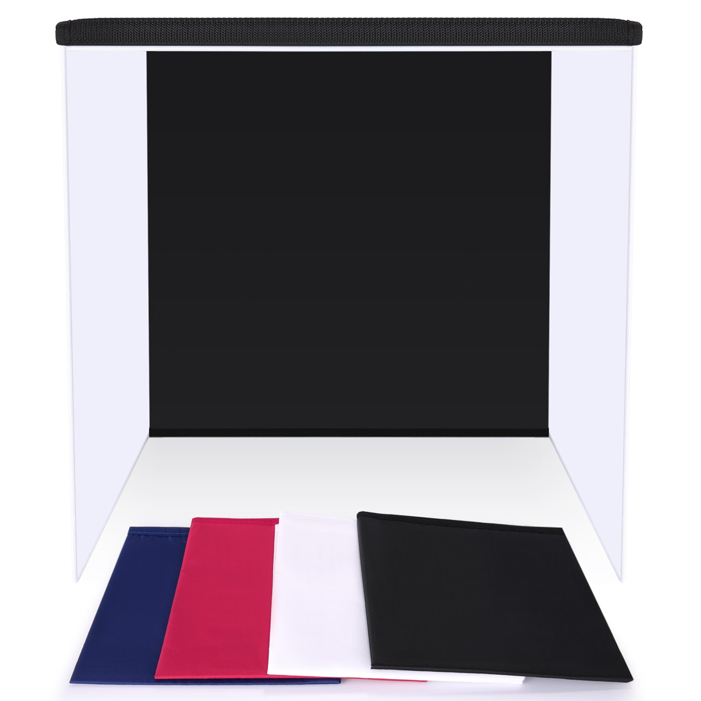 carpa de luz cubo ligero de difusi/ón suave con 4 colores de telones de fondo rojo oscuro, azul, negro y blanco para fotograf/ía Neewer/® 60x60 pulgadas//150 x 150 cm Estudio de fotograf/ía de disparo