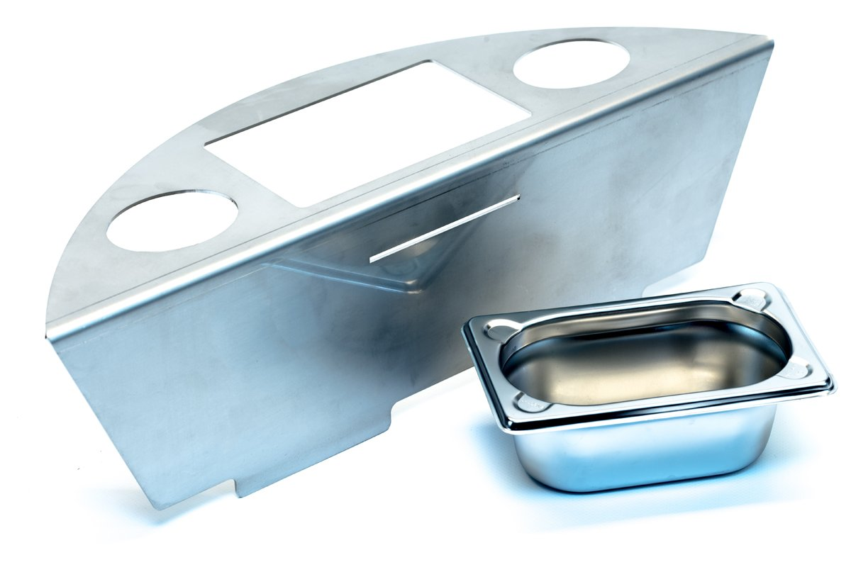 Stainless Steel Smoker Insert for Round Barbecues Made from 2mm Stainless Steel BBQ Smoker Kette´s Grillzubehör