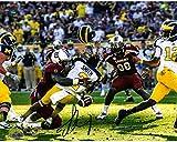 NCAA South Carolina Fighting Gamecocks Jadeveon Clowney Hit vs Michigan Signed 16x20 Photo