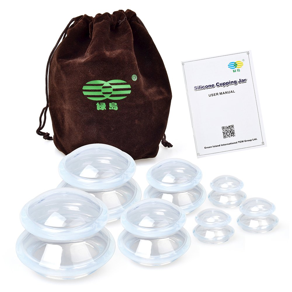 Elera Silicone Professional Cupping Massage Therapy Cups Set for Muscle Soreness Pain Relief