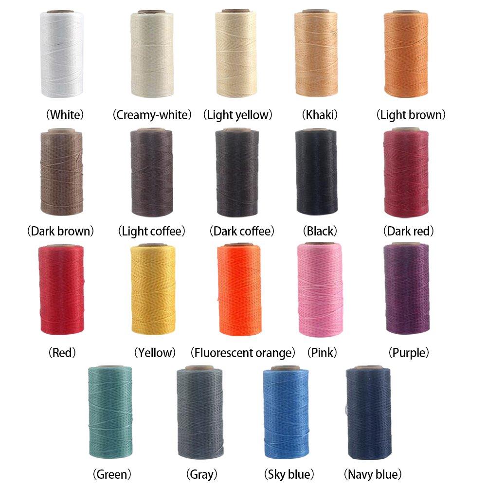Free Size Kordel 1 mm MElnN 260 m Wachs-Nylonschnur strapazierf/ähiges Material N/ähen Khaki Perlenfaden mit Spule f/ür DIY Schmuck Armband herstellen