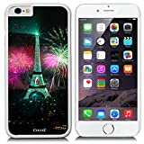 New Apple iPhone 6 s 4.7-inch CocoZ® Case Classic Paris Eiffel Tower Beautiful Night view PC Material Case (White PC & Eiffel Tower 20)