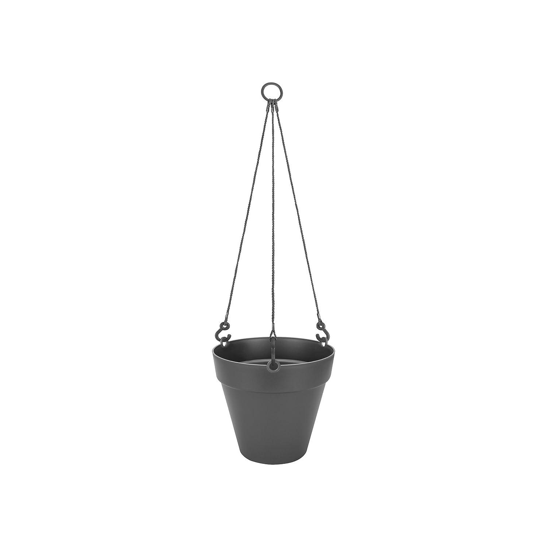 Warmes Grau Blumentopf Drau/ßen /& Balkon /Ø 19.6 x H 18.7 cm Elho Loft Urban H/ängeampel 20
