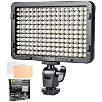 UTEBIT LED Light Panel Dimmable Photography Lighting 3.6cm Ultra-thin Portable Video Light PT-176S with 1/4 Screw Hot Shoe for Canon Nikon Camera DSLR Light Stand Tripod