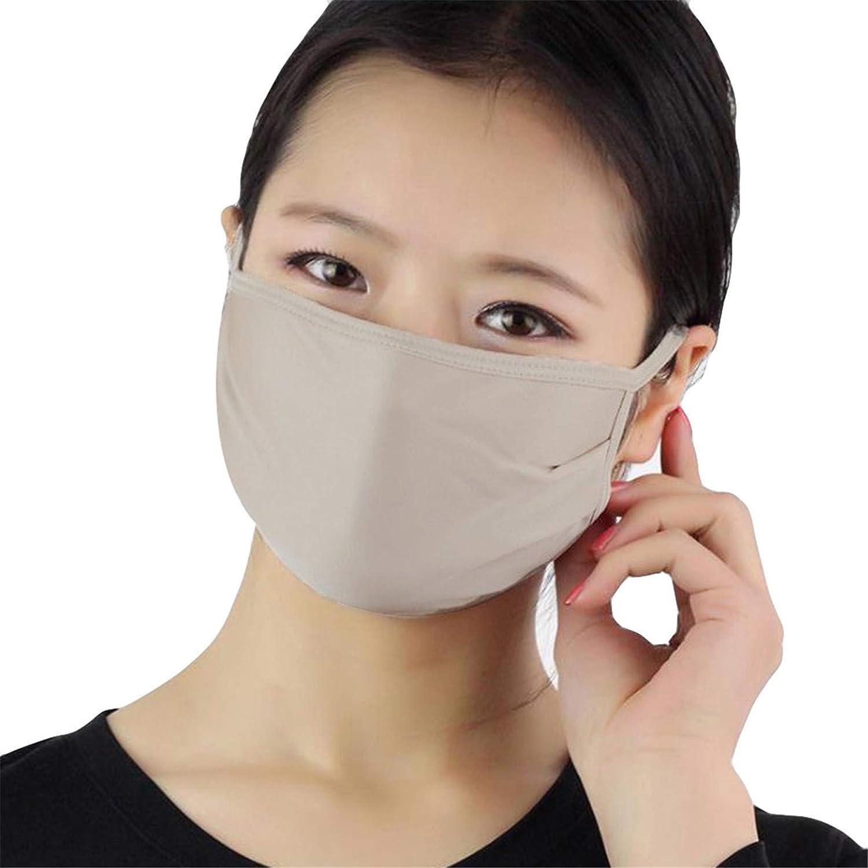 Respirant Protection Solaire Soie Double Couche 3 Pi/èCes Gris AmyGline Couvre-Visage Facial en Coton Unisexe Froid Et Antipoussi/èRe Blanc Antibact/éRien
