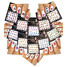 Nail Art Water Slide Tattoo Stickers Decals ♥ FLOWERS ♥ 10 - Pack // nail art toboggan tatouage autocollants autocollants ♥ FLEURS ♥ Paquet de 10