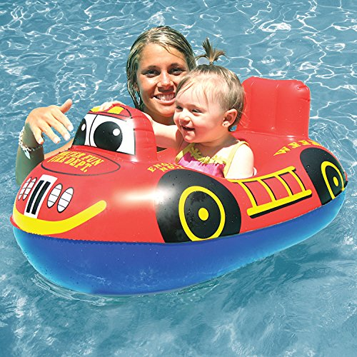 Poolmaster Learn-to-Swim Baby Swimming Pool Float Rider, Fire Engine - http://coolthings.us