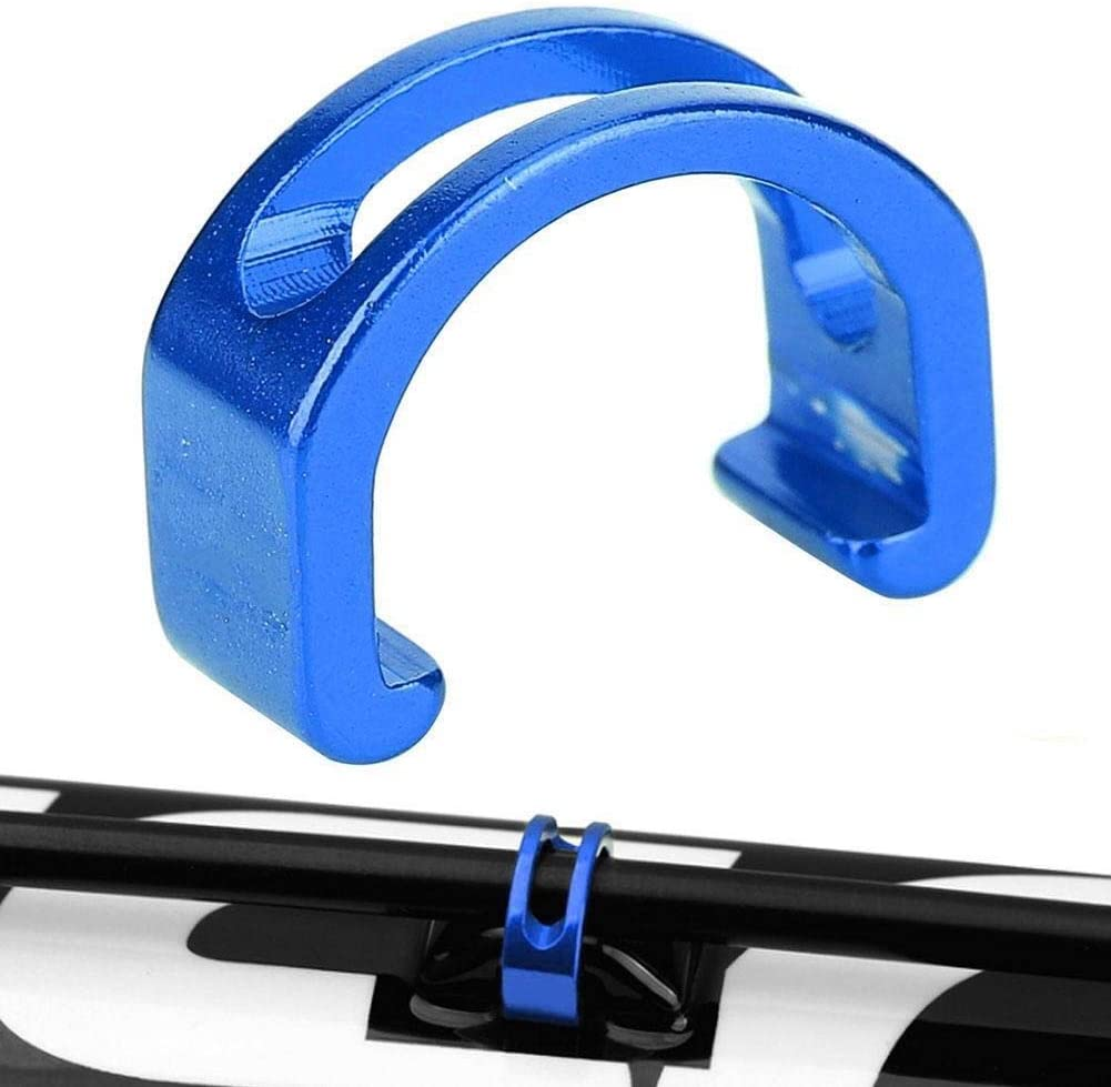 Blue REOUG 5pcs Aluminium Alloy Bike C-Clips Buckle Fixing Brake Shifting Line Cable Pipeline for Mountain Mountain Bicycle