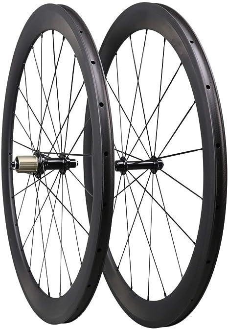 TRIAERO 50mm 700C Aero Carbono Carretera Bicicleta Rueda Clincher ...