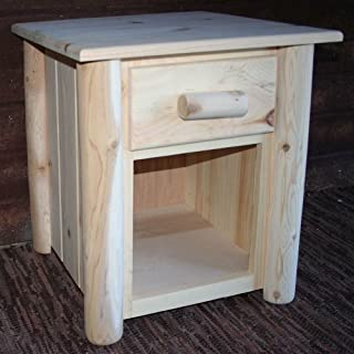 product image for Lakeland Mills Frontier Nightstand w 1 Drawer, Light Honey Gold