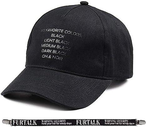 Unisexo Gorras Negras para Mujeres Hombres Gorra de béisbol Marca ...
