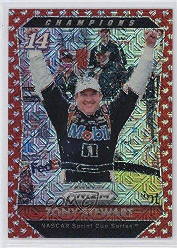 Tony Stewart #16/75 (Trading Card) 2016 Panini Prizm NASCAR - [Base] - Red Flag Prizm #67