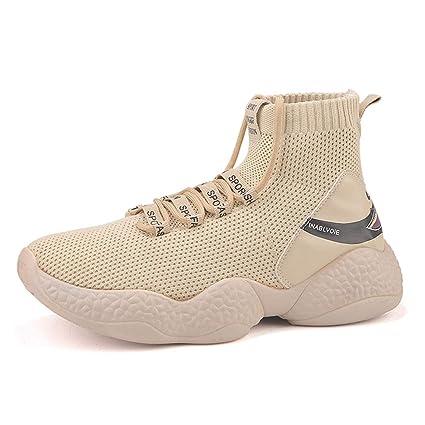 02765053ba1b6 Amazon.com : WGFGXQ Men's High-Top Shoes Breathable Running Shoes ...