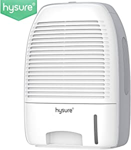 Hysure Portable Mini Dehumidifier 2200 Cubic Feet Electric Safe Dehumidifier for Bedroom, Home, Crawl Space, Bathroom, RV, Baby Room