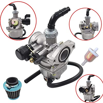 Carb 50cc 70cc 90cc 110cc 125cc for ATV Dirt Bike Go Kart Carburetor W/Air Filter: Garden & Outdoor