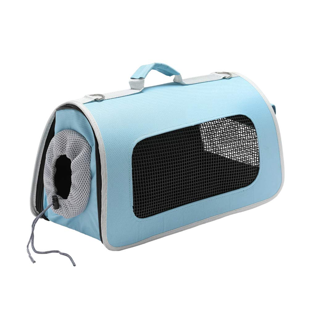 bluee L bluee L Backpacks Pet Bag Cat Travel Bag Car Pet Bag Cat Bag Out Of The Bag Portable Space Pet Cabin Cat Cage Dog Portable Teddy Carrying Cat Box Creative bluee Comfortable Breathable Fashion Travel G