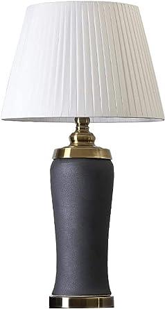 Lámpara De Mesa De Cerámica Lámpara De Noche De Dormitorio Recto Perla Negra E27 * 1 Para Habitación De Estudio De Hotel-blanco Lámpara De Mesa Para Leer Estudiar Lámpara De Escritorio: Amazon.es: