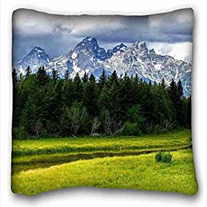 Custom Characteristic Nature Custom Cotton & Polyester Soft Rectangle Pillow Case Cover 16x16 inches (One Side) suitable for Full-bed