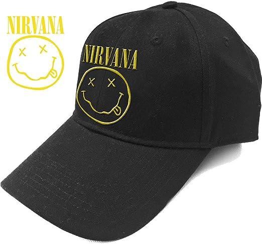 Nirvana - Gorra de béisbol, diseño con Logotipo de Smiley: Amazon ...