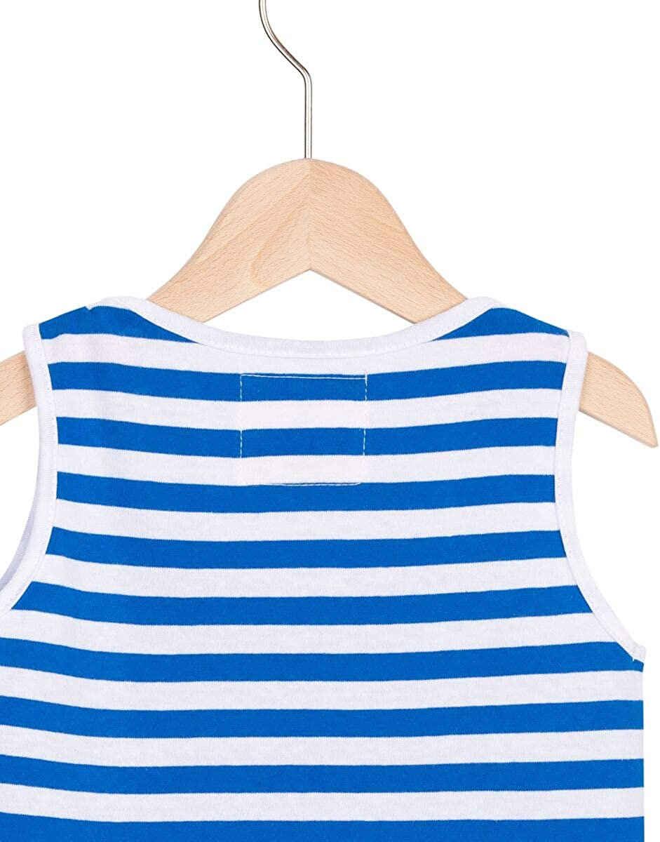 Unisex in Blau//Wei/ß gestreift aus 100/% Baumwolle AMPELMANN Strolch Tanktop Kinder