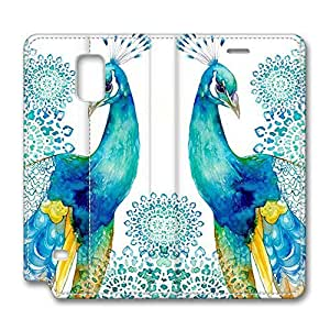 Note 4 case,samsung galaxy Note 4 case,samsung Note 4 case,Galaxy Note 4 Flip case -Peacock new Wallet Colorful PU Leather Case Cover for Samsung Galaxy Note 4 N9000