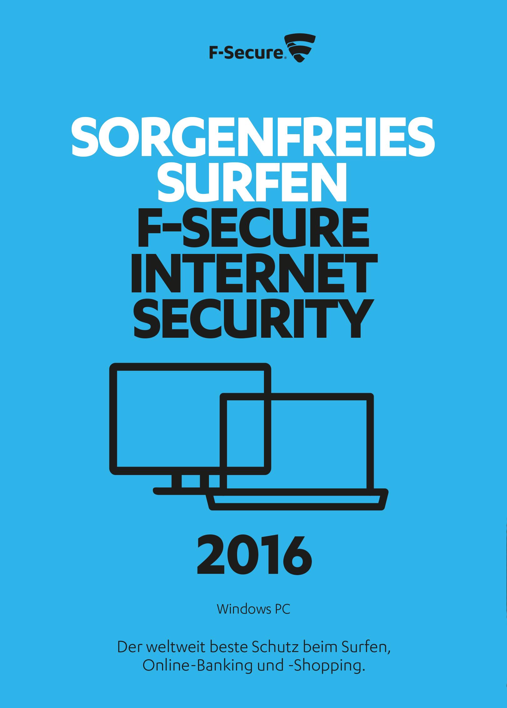 F-Secure Internet Security 2016 Upgrade - 1 Jahr / 1 PC [Online Code]