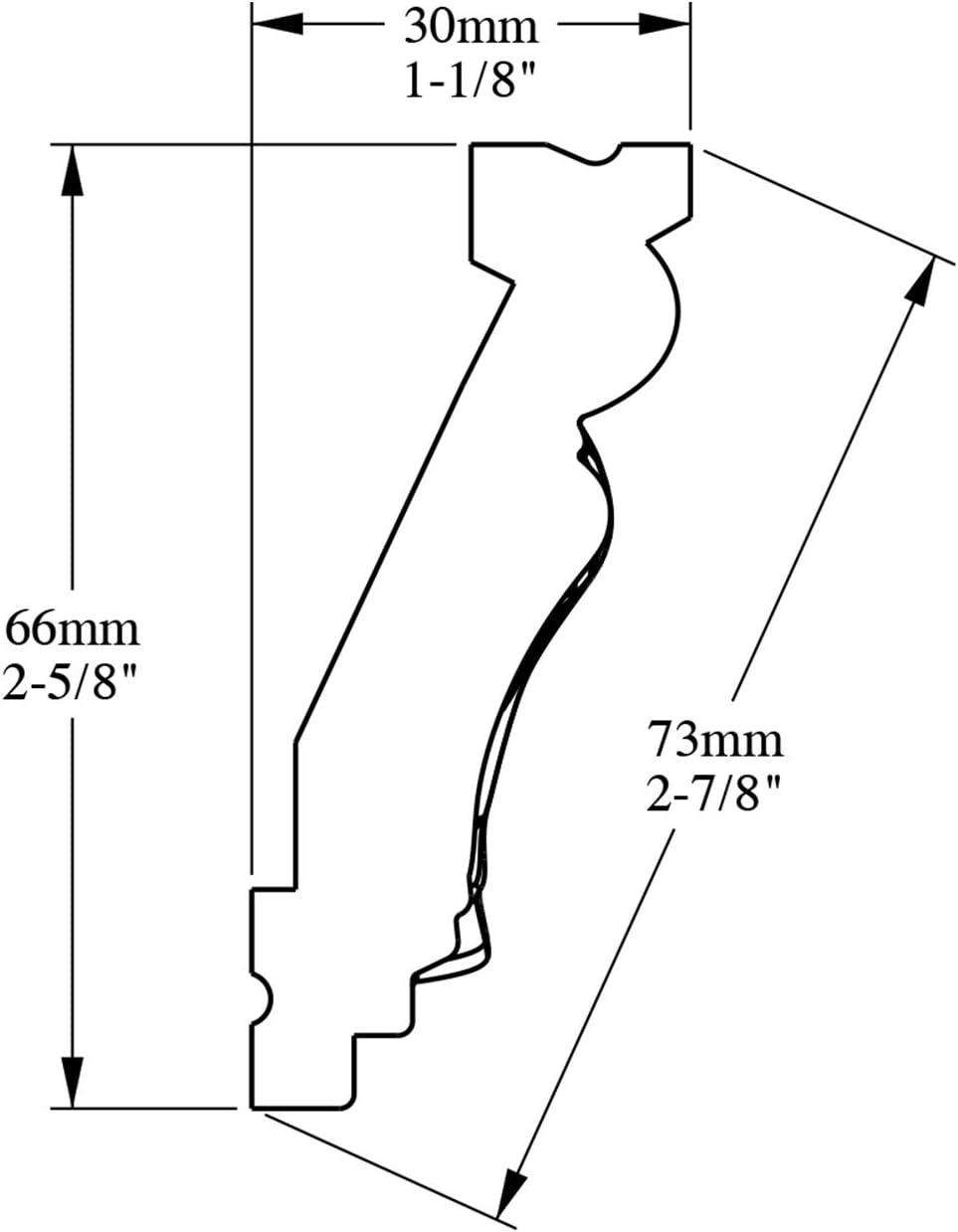 2 m Corniche Moulure Cimaise Orac Decor C214 LUXXUS D/écoration de stuc Profil d/écoratif du mur