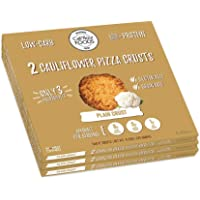Cali'flour Foods Gluten Free, Low Carb Cauliflower Plain Pizza Crusts - 3 Boxes - (6 Total Crusts, 2 Per Box)