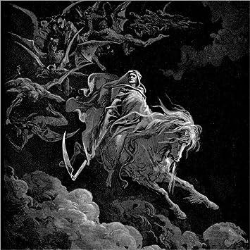 Posterlounge Cuadro de PVC 70 x 70 cm: Death on a Pale Horse de Gustave Doré