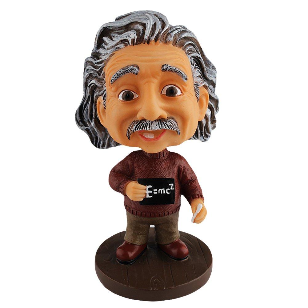 LYNDA SUTTON Einstein Toys Albert Einstein Bobblehead with The Famous Formula E=mc² Dashboard Accessories/Desk Decor/Collection