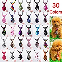 HI-BOOM 30 Pcs/pack Dog Collar Pet Puppy Bow Tie Neckties for Cats & Small Dogs, Assorted Color