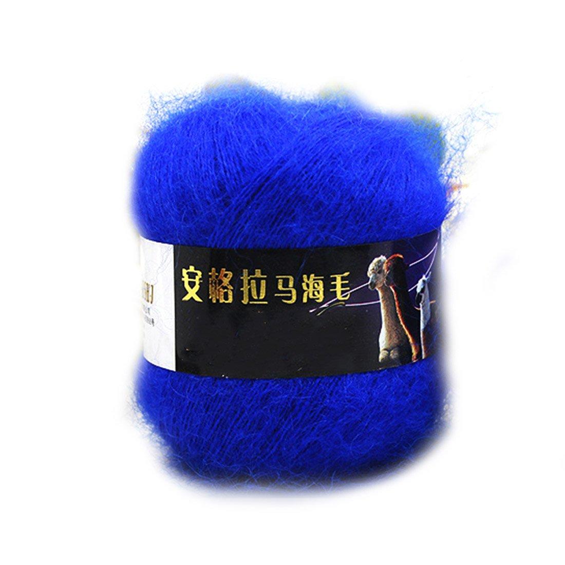 2016 Fashion Soft Luxury Mohair Wool Knitting Yarn Sweater Scarf Knitting Wool-White rongwen LEPAZN3244
