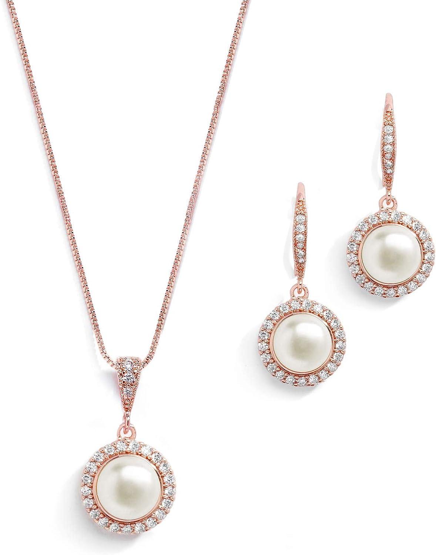 Classic AAAA Freshwater Pearl Jewelry Wedding Set