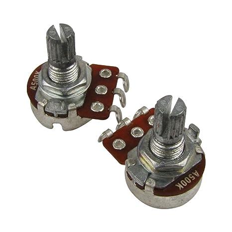 IKN A500K Guitarra Eléctrica Tono Bajo Tomas de Control de Volumen Mini Potenciómetro Eje L15mm con