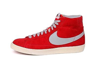 3bba54bb8d Nike Blazer MID PRM VNTG Suede Baskets Homme 538282-601-45-11 Rouge ...