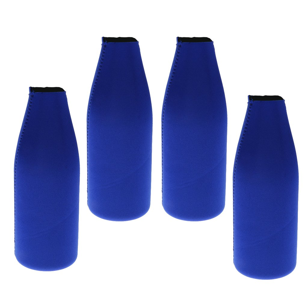 sharprepublic 4Pcs Beverage Can Bottle Beer Cooler Insulator Neoprene Sleeve Wrap Cosy